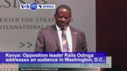 VOA60 Africa - Odinga: 'Kenyans enraged over the presidential election are considering secession'