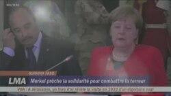 Merkel prêche la solidarité pour combattre la terreur