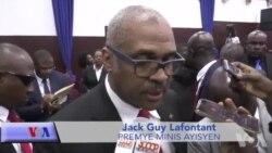 Premye Minis Dr. Jack Guy Lafontant Apre Li te Vin Jwenn Vòt Majorite Depite yo Madi 21 Mas 2017 la Avan Envestiti li nan Palè Nasyonal