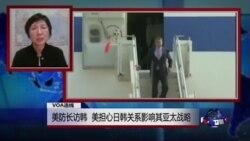 VOA连线:美防长访韩,美担心日韩关系影响其亚太战略