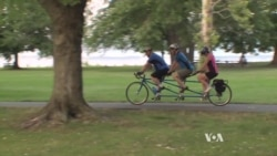 Tandem Biking Opens Sport to Blind Bikers