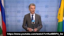 유엔 안보리 대북제재위원회 위원장을 맡고 있는 크리스토퍼 호이스겐 유엔주재 독일 대사.