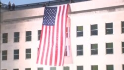 US Flag Unfurled at Pentagon on 9/11