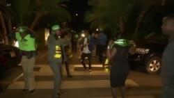Zimbabwe Ruling Party Supporters Celebrate Mnangagwa Win