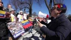 Venezolanos en Washington piden libertad de Leopoldo López