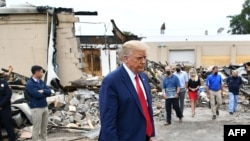 도널드 트럼프 미국 대통령이 1일 최근 격렬한 시위가 발생한 위스콘신주 커노샤를 방문했다.