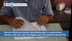 VOA60 Africa- Moroccans started voting on Wednesday in a parliamentary election under new rules