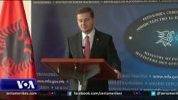 Ministri në detyrë i Punëve të Jashtme të Shqipërisë, Gent Cakaj në Shkup