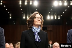 FILE - CIA Director Gina Haspel arrives to testify before a Senate Intelligence Committee on Capitol Hill, January 29, 2019.