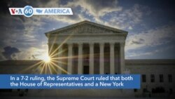 VOA60 America - US Supreme Court Rules Some Trump Financial Records Can Be Revealed