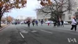 华盛顿感恩节街拍: 为慈善而跑步