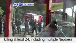 VOA60 World - Bomb Blasts Kill 24 in Afghanistan