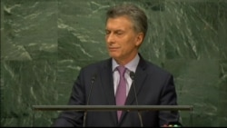 Argentina President Mauricio Macri addresses the global refugee crisis at UNGA