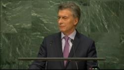 Argentina President Mauricio Macri addresses the global refugee crisis at UNGA