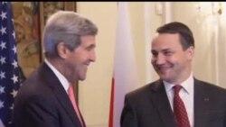 2013-11-05 美國之音視頻新聞: 克里抵波蘭訪問 雙方討論防務問題