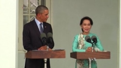 Obama Welcomes Myanmar's Aung San Suu Kyi for Crucial Talks on Sanctions