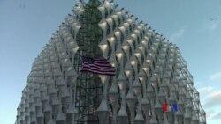 2018-1-16 美國之音視頻新聞: 美國駐英大使館新館正式使用