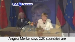 VOA60 Africa - Germany's Angela Merkel calls for more direct foreign investment to flow into Africa