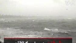 طوفان در اسکاتلند موجها را بر فراز ماشینها به پرواز درآورد