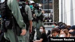 Los manifestantes han seguido protestando en Hong Kong a pesar de las nuevas leyes de seguridad aprobadas por China.