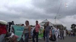 Venezolanos en Cúcuta a la expectativa de recibir ayuda