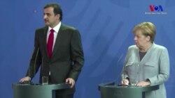 Katar Emiri Avrupa'da Merkel ve Macron'la Görüştü