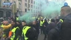 Belçika'da 'Sarı Yelekliler' Protestosunda Çatışma