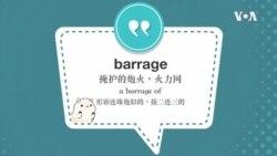学个词--barrage