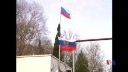 2014-03-19 美國之音視頻新聞: 親俄軍隊控制克里米亞海軍司令部