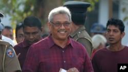 သီရိလကၤာ သမၼတေရြးေကာက္ပြဲတြင္ အႏုိင္ရသည့္ Gotabaya Rajapaksa. (ႏုိဝင္ဘာ ၁၆၊ ၂၀၁၉)
