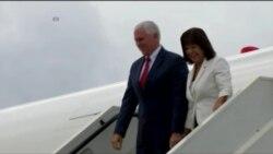 Mike Pence da inicio a gira internacional en Colombia