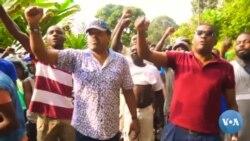 Populares em São Tomé revoltados com decisão de recontagem de votos