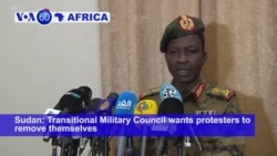 VOA60 Africa - Sudan's Military Warns Protesters to Clear Barricades as Talks Break Down