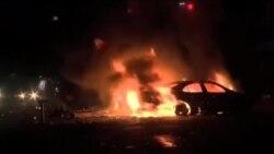 درگیری معترضان با ماموران پلیس در شهر بالتیمور