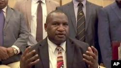 资料照:巴布亚新几内亚今年5月新当选的总理马拉佩