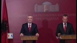 Kryetari i Parlamentit Shqiptar viziton Maqedoninë