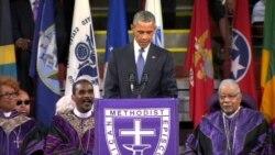 Barack Obama chante Amazing Grace en hommage aux 9 victimes de la tuerie de Charleston