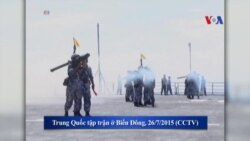 Trung Quốc tiếp tục tập trận ở Biển Đông