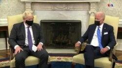 ԱՄՆ նախագահ Ջո Բայդենը Մեծ Բրիտանիայի վարչապետ Բորիս Ջոնսոնին հյուրընկալել է Սպիտակ տան Օվալաձև սրահում