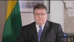 Умови проведення виборів на Донбасі озвучив міністр закордонних справ Литви. Відео