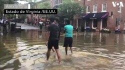 Inundaciones en Alexandria, ante la llegada del Huracán Florence
