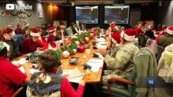 Як військові стежать за пересуванням Санта-Клауса. Відео