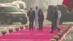台湾总统蔡英文主持舰成军典礼