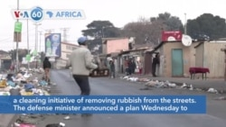 VOA60 Africa - South Africa doubled deployment of troops to 10,000 Thursday