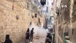 以色列部隊與巴勒斯坦信徒在阿克薩清真寺週一再度衝突