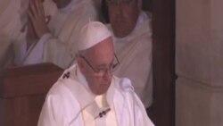 教宗譴責恐怖主義 為敘利亞祈禱