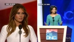 Comparison of Melania Trump, Michelle Obama Convention Speeches