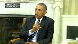 سەرۆک ئۆباما: هیچ بەڵگەیەک نیـیە ئاماژە بۆ ئەوە بکات کۆمەڵە توندڕەوەکان لە پشت هێرشەکەی ئۆرلاندۆ بن