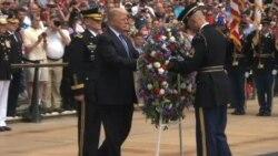 Trump honra a los héroes caídos
