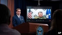 گفتوگوی ژنرال ولترز با ارتباط ویدئویی با خبرنگاران، روز پنجشنبه در پنتاگون